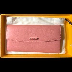 Authentic Fendi Leather Saffiano Wallet Clutch
